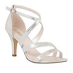 Lotus - Silver shimmer 'Gabby' strappy heels