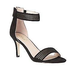Lotus - Black 'Elmas' ankle strap heels