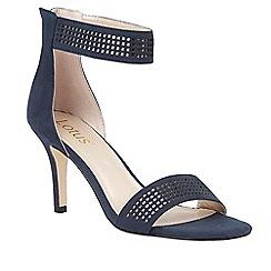 Lotus - Blue 'Elmas' ankle strap heels