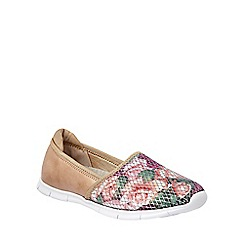 Lotus - Multi-coloured 'Valli' slip on trainers