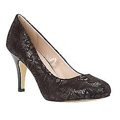 Lotus - Black 'Clancy' floral print heels