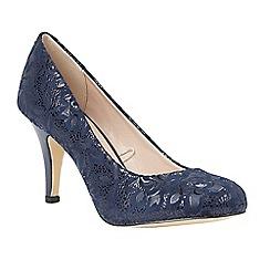 Lotus - Blue 'Clancy' floral print heels