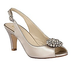 Lotus - Pewter metallic 'Elodie' sling back courts