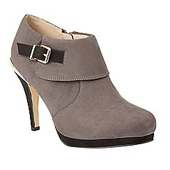 Lotus - Grey 'Vollmer' high heel shoe boots