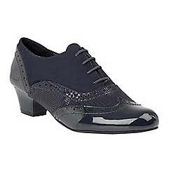 Lotus - Blue 'Treanor' mid heel lace up shoes