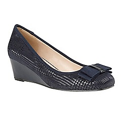 Lotus - Blue 'Peak' mid heel wedge shoes