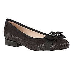 Lotus - Black floral print 'Peppery' ballet pumps
