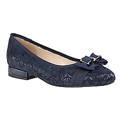 Lotus - Blue floral print 'Peppery' ballet pumps