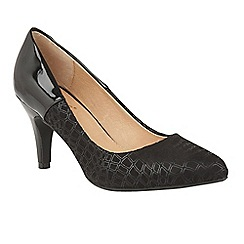 Lotus - Black 'Ancoma' high heel court shoes