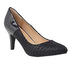 Lotus - Blue 'Ancoma' high heel court shoes