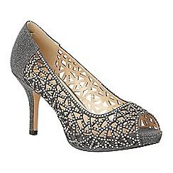 Lotus - Metallics diamante 'Flink' high heel court shoes