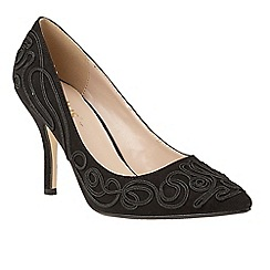 Lotus - Black 'Matin' high heel court shoes