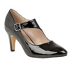Lotus - Black 'Laurana' high heel court shoes