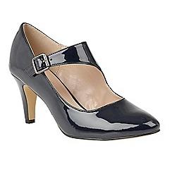 Lotus - Blue 'Laurana' high heel court shoes