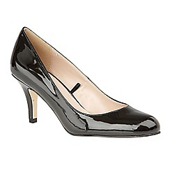 Lotus - Black 'Altar' high heel court shoes