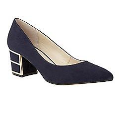 Lotus - Blue 'Mercy' mid heel courts
