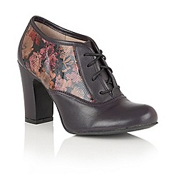 Lotus - Purple leather 'Lian' lace up shoe boots