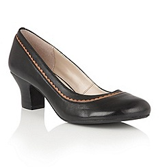 Lotus - Black leather 'Orinda' courts