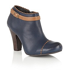 Lotus - Blue leather 'Mulya' shoe boots