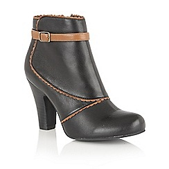 Lotus - Black leather 'Morie' ankle boots