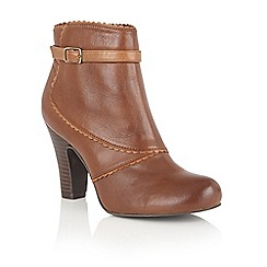 Lotus - Brown leather 'Morie' ankle boots