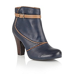 Lotus - Blue leather 'Morie' ankle boots