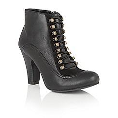 Lotus - Black leather 'Randa' ankle boots