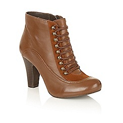 Lotus - Brown leather 'Randa' ankle boots