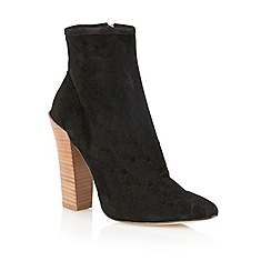 Lotus - Black suede 'Erika' ankle boots