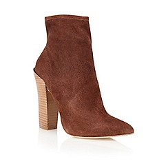 Lotus - Brown suede 'Erika' ankle boots