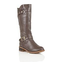 Lotus - Brown 'Kiln' knee high boots