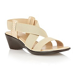 Lotus - Beige 'Clarence' open toe sandals
