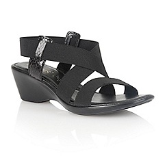 Lotus - Black 'Clarence' open toe sandals