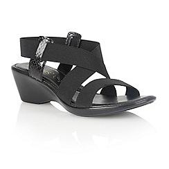 Lotus - Black 'Clarence' open toe sandals
