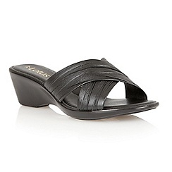 Lotus - Black 'Mercia' open toe sandals