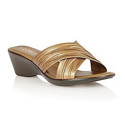 Lotus - Bronze 'Mercia' open toe sandals