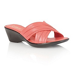 Lotus - Coral 'Mercia' open toe sandals