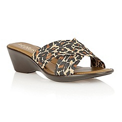 Lotus - Leopard 'Mercia' open toe sandals