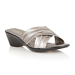 Lotus - Pewter 'Mercia' open toe sandals