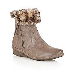 Lotus - Grey 'Virkat' ankle boots