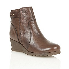 Lotus - Brown leather 'Shard-UK' ankle boots
