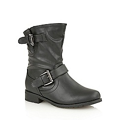 Lotus - Black 'Barberry' ankle boots