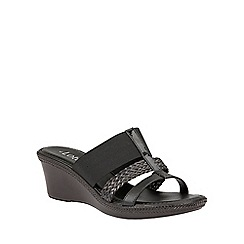 Lotus - Black 'Medway-UK' mules