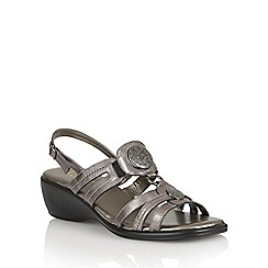 Lotus - Pewter 'Bertrand-UK' open toe sandals