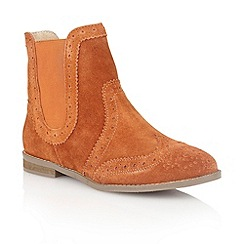 Lotus - Burnt orange 'Rocka' ankle boots