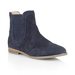 Lotus - Navy 'Rocka' ankle boots