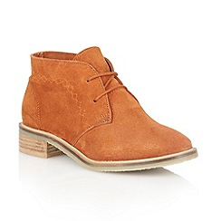Lotus - Burnt orange 'Venus' ankle boots