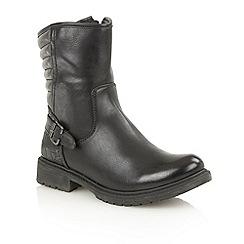 Lotus - Black croc 'Wilson' ankle boots