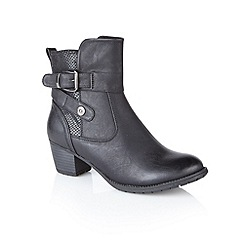 Lotus - Black 'Carroll' ankle boots