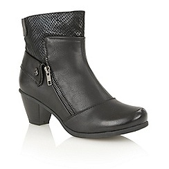 Lotus - Black print 'Sherman' ankle boots